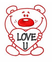 Love U embroidery design