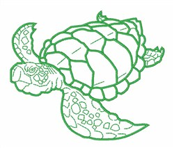 Turtle Outline embroidery design