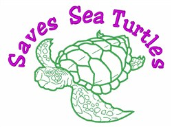 Save Sea Turtles embroidery design