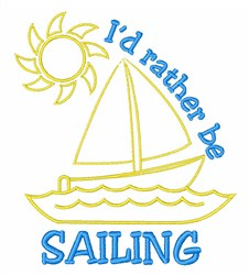 Rather Sail embroidery design