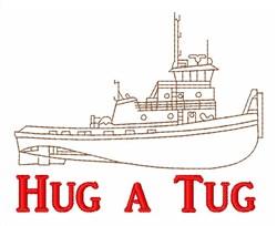 Hug a Tug embroidery design