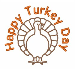 Happy Turkey Day embroidery design