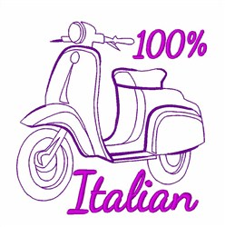 100% Italian embroidery design