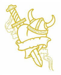 Vikings Mascot Outline embroidery design