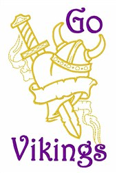 Go Vikings embroidery design