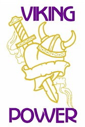 Viking Power embroidery design