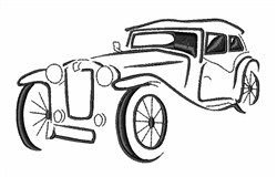 Classic Car Outline embroidery design