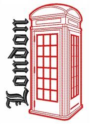 London Call Box embroidery design
