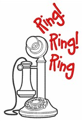 Ring Ring Ring embroidery design