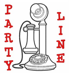 Party Line embroidery design