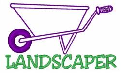 Landscaper Wheelbarrow embroidery design
