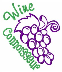 Wine Connoisseur embroidery design