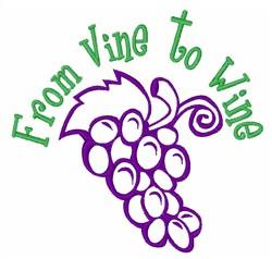 Vine to Wine embroidery design