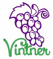 Vinter Grapes embroidery design