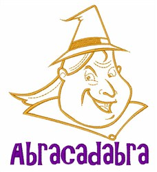 Witch Abracadabra embroidery design