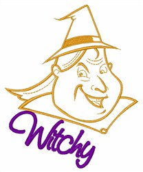 Witchy Witch embroidery design