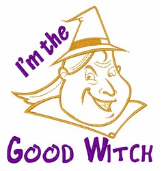 Good Witch embroidery design