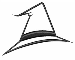Witch Hat Outline embroidery design