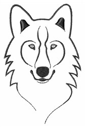 Alpha Wolf Outline embroidery design