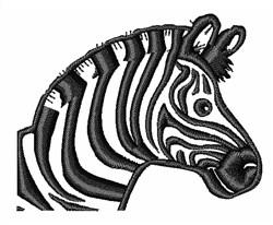 Zebra Outline embroidery design