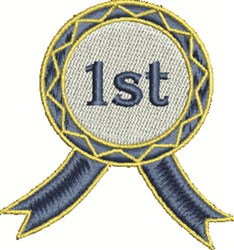 1st Blue Ribbon embroidery design