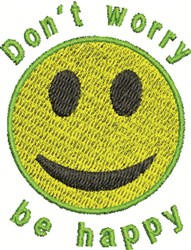 Don't Worry embroidery design