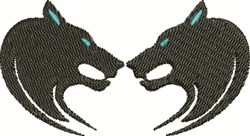 Double Cats embroidery design