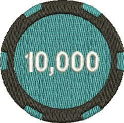 10,000 Poker Chip embroidery design