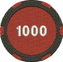 1000 Poker Chip embroidery design