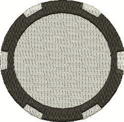 Poker Chip embroidery design