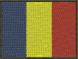 Romanian Flag embroidery design