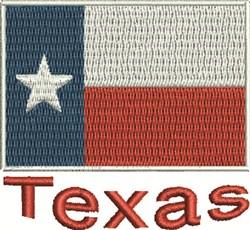 Texas Flag embroidery design