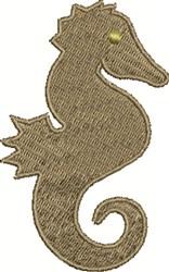 Seahorse Shape embroidery design