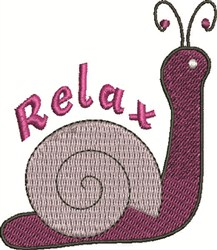 Snail Relax embroidery design