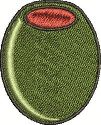Stuffed Olive embroidery design