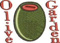 Olive Garden embroidery design