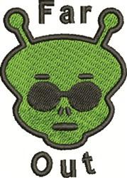 Far Out Martian embroidery design