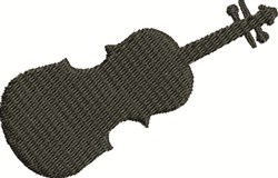 Violin Silhouette embroidery design