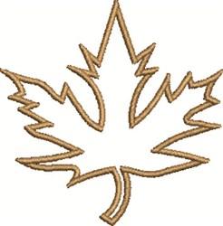 Maple Leaf Outline embroidery design