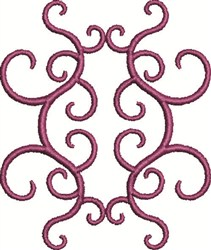 Scrollwork embroidery design