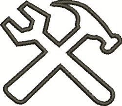 Tool Outline embroidery design
