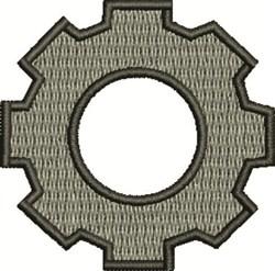Gear Shape embroidery design