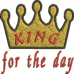 King For Day embroidery design