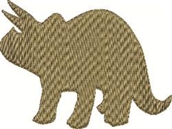 Brown Dinosaur embroidery design