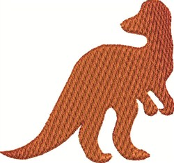 Orange Dinosaur embroidery design