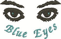 Blue Eyes embroidery design