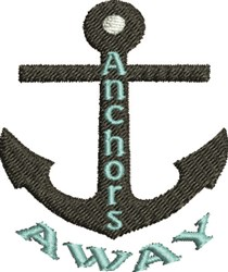Anchors Away embroidery design