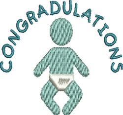 Baby Congradulations embroidery design