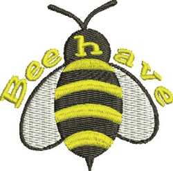 Beehave embroidery design