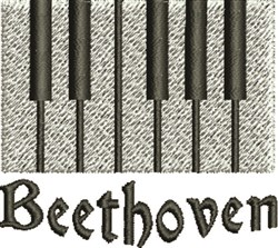 Beethoven embroidery design